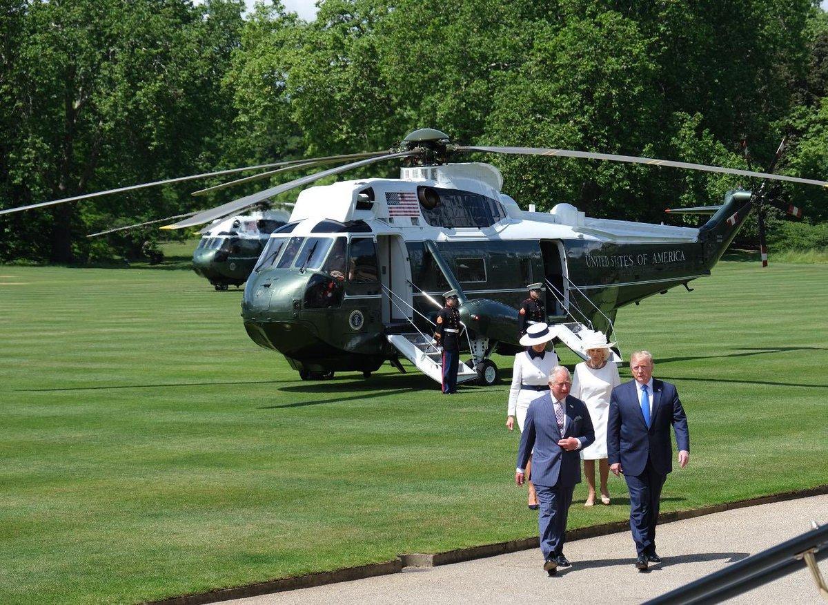 Ещё фрагменты визита Трампов 3-5 июня 2019