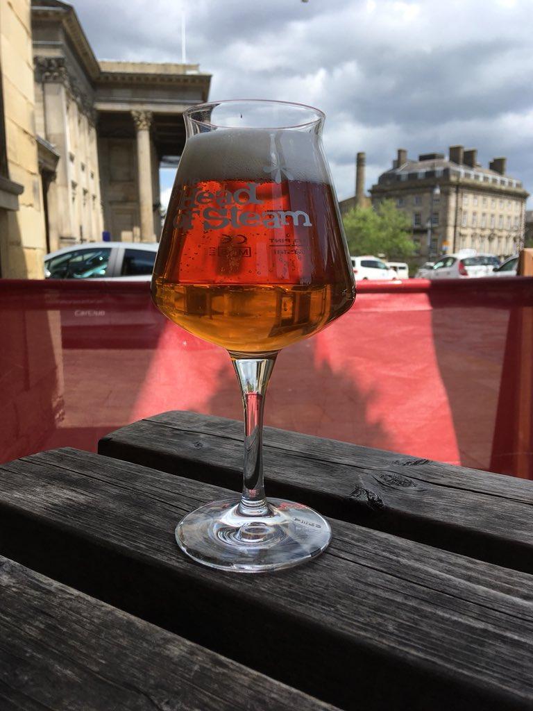 Lunchtime beer! Feel like something light and hoppy today #beerme #headofsteamhuddersfield #cameronsbrewery #craftbeer #huddersfield