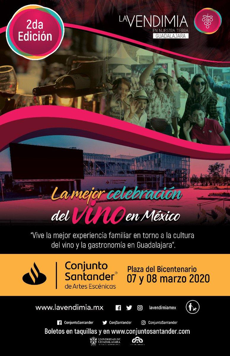 Con gusto anunciamos nuestro regreso a #Guadalajara en marzo de 2020 para celebrar la 2a edición de *La Vendimia en Nuestra Tierra*   #LaVendimiaMex 😉🍷