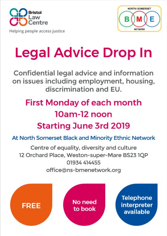 3b841eca5095d Visit our next drop in, on the first Monday of each month. See flyer for  details: #freelegaladvice #northsomersetbmenetwork #advicepic.twitter.com/  ...