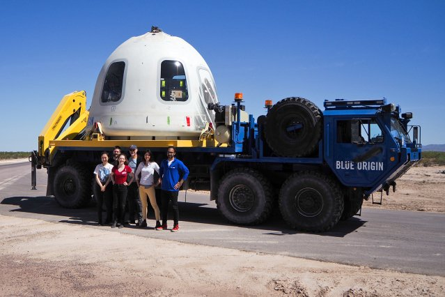 Space Exploration Initiative research aboard Blue Origin's New Shepard experiment capsule crossed the Karman line for three minutes of sustained microgravity. http://mitsha.re/OfaC50utH5x