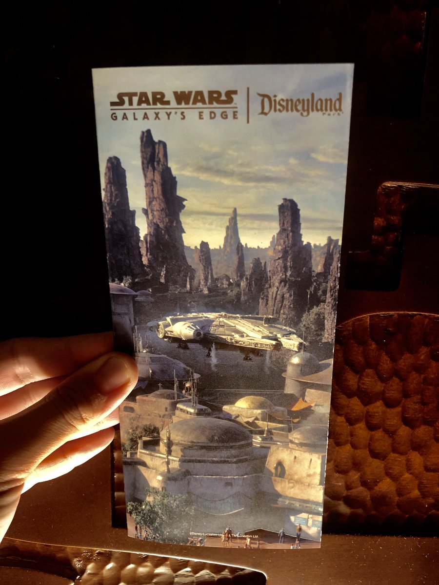 Want to win a #StarWarsGalaxysEdge #GalaxysEdge commemorative map? Follow us, retweet and like this tweet for a chance to get your hands in one!