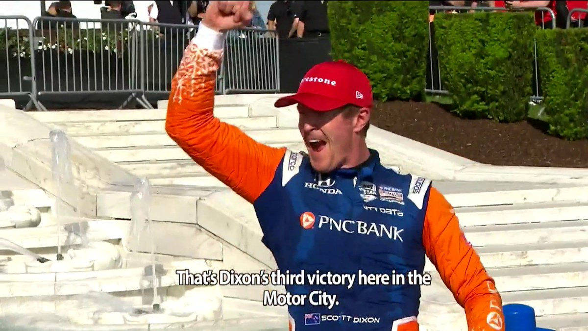 Right back in the hunt. @ScottDixon9s win in Race 2 of the Detroit GP was a big rebound from the day prior to put him back in contention for his 6th IndyCar championship. This race review is presented by @Honda.