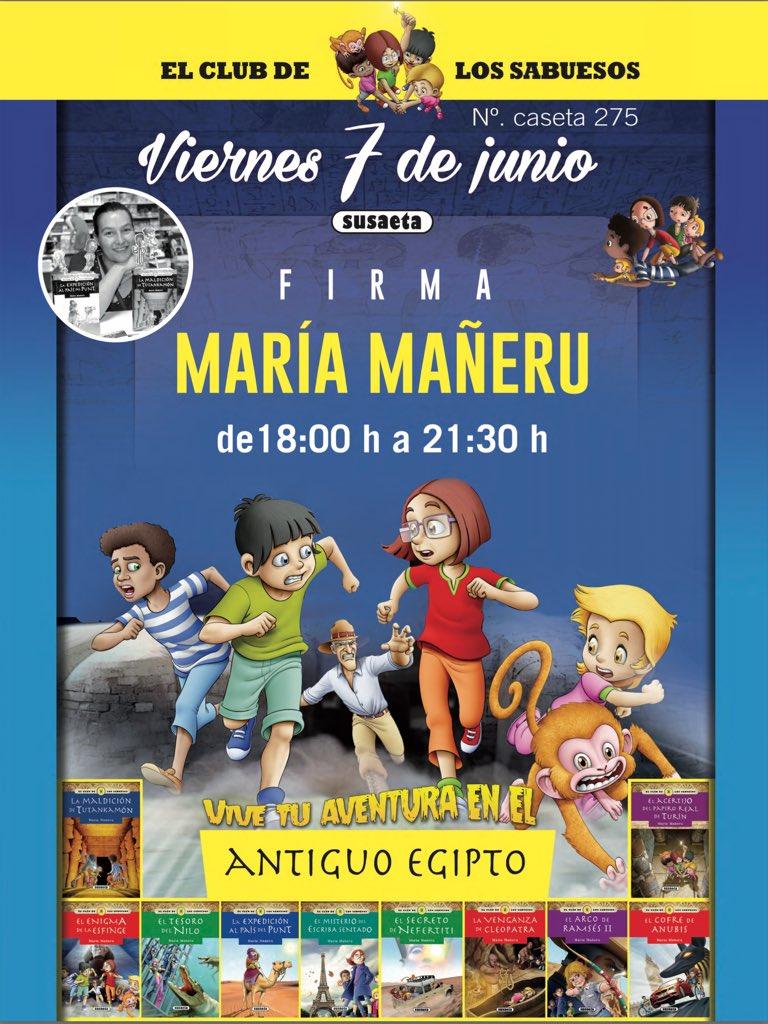 ... de 18 a 21:30 horas, estaré en la caseta de Editorial Susaeta (n.º 275)  con todos los niños y niñas que quieran venir a  verme.pic.twitter.com/zJCAVXXdNS