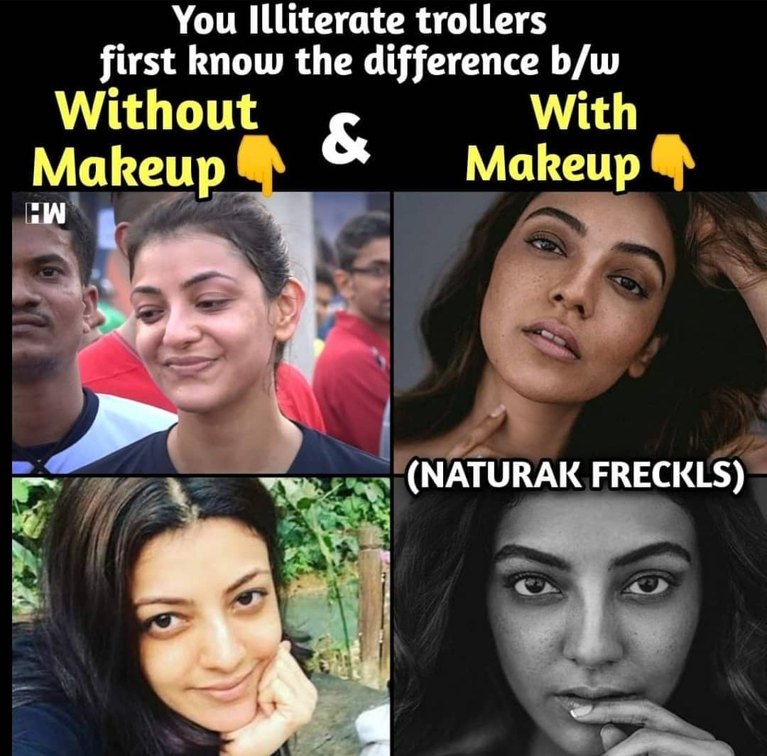 Sometimes people are beautiful  Not in looks , Not in what they say , Just in what they are @MsKajalAggarwal   Makeup And Hair By Team #VipulBhagat !!!  It's natural freckles makeup   #AcceptWhoYouAre #WeLoveYourHeart pic.twitter.com/xrjfkNRHcn