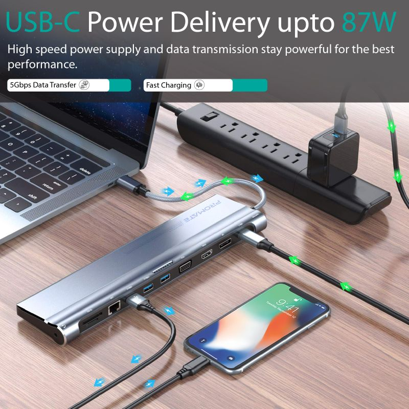Promate BaseLink-C: All-in-1 USB-C™ Docking Station with 87W Power Delivery.  @Promate #Promate #Power_Delivery #Macbook #Apple #USB_C https://t.co/izNUZIdEMV
