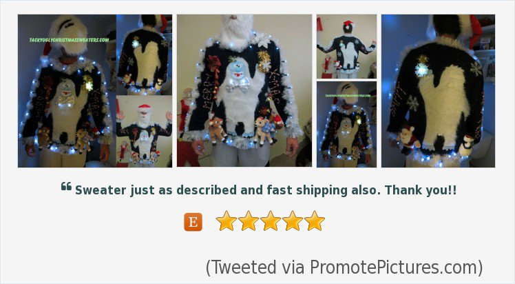 83cabebff #Furry The #Abominable #Snowman Light up Tacky Ugly #Christmas #Sweater ...