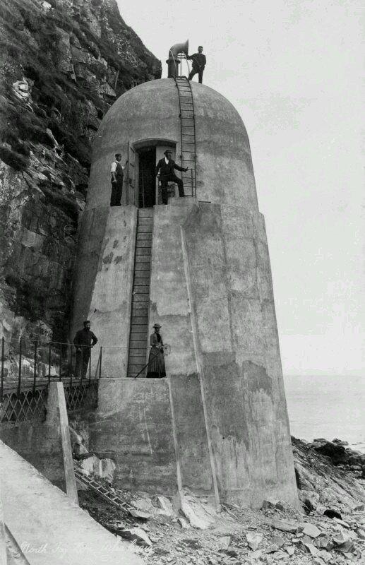 Gas-powered foghorn on the Ailsa Craig. (1886) Pic: Historic Environment Scotland.
