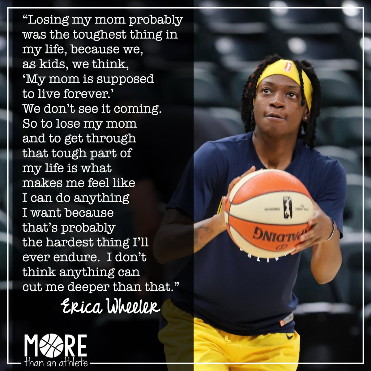 Erica Wheeler just surpassed 1000 points as a Fever athlete during Saturday's game. 💙💛 I didn't know Erica's mother and can't speak for her but I can only imagine how proud she would be of her daughter and her strength.  . #Fever20 #AllForLove #IndianaFever