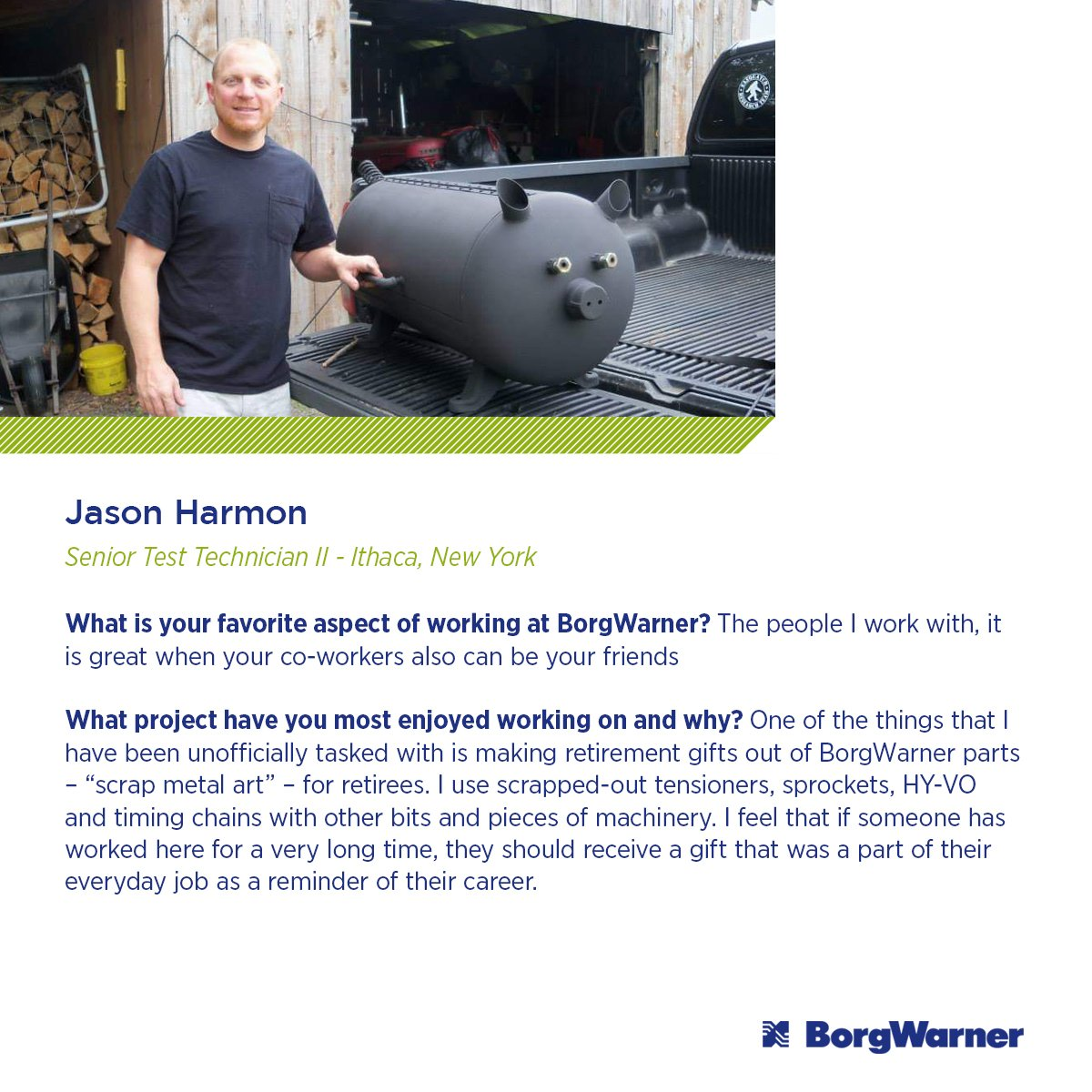 Today, our employee spotlight is on Jason Harmon, a senior test technician with a unique hobby. Learn more about him here: