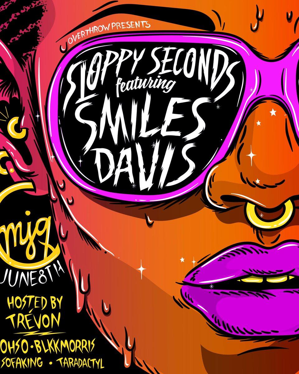🥞Sloppy Seconds this Saturday!  🍕@djsmilesdavis 🍕@DJOHSOxo 🍕@blkkmorris 🍕@SofaKingEvil 🍕@djtaradactyl   🌮Hosted by @badn3wzz  🍔Discount tix at https://www.ticketfly.com/purchase/event/1866543…