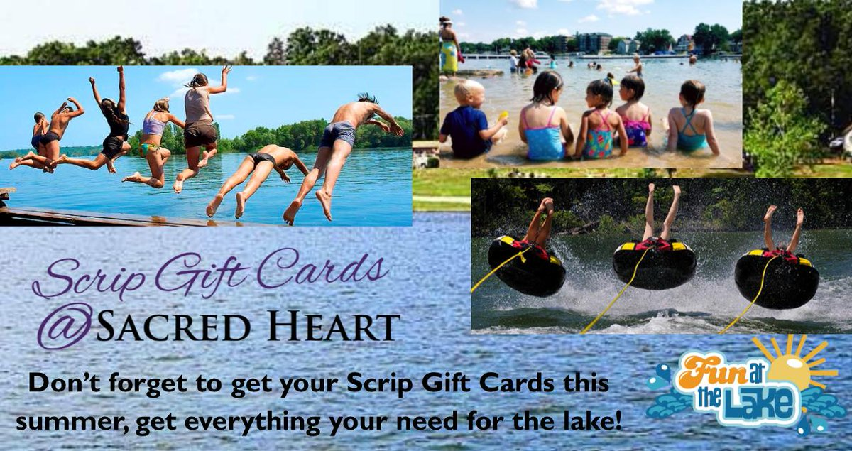 Stock up with your lake time favorites, we have Sam's Club, Target, Hugo's, L & M Meats, Walmart and Hugo's Wine & Spirits to cover all of your lake needs!  For a full list please visit http://sacredheartegf.net/scrip