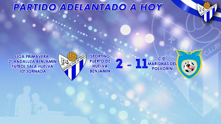 El Sporting Puerto de Huelva Benjamín de fútbol sala ha disputado esta tarde el último encuentro de la Liga Primavera.