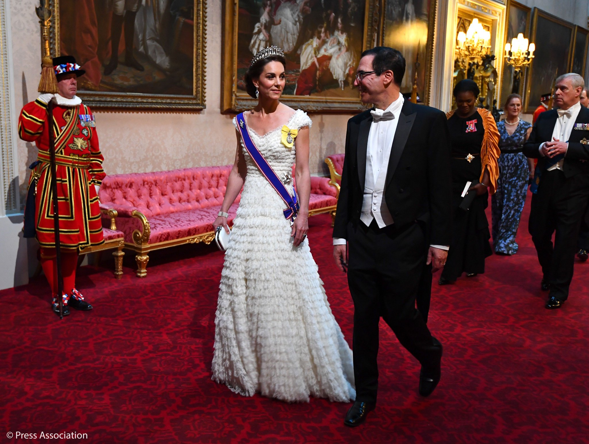 Kate Middleton Wears a Romantic Dress With Ruffles for State Dinner