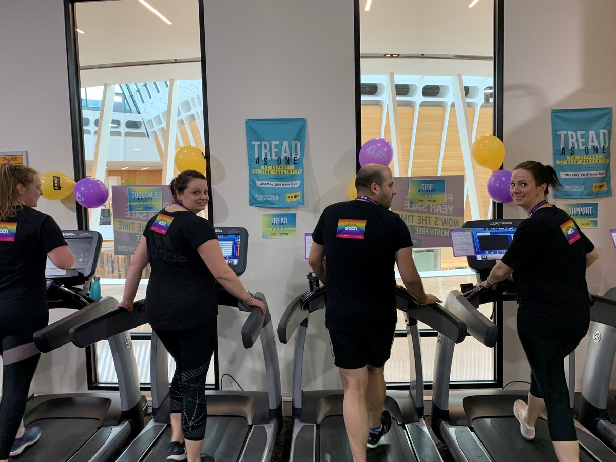 It was great having our team support the #TreadAsOne 24hr treadmill challenge at @AnytimeFitness Ringwood to raise money for suicide prevention and @ruokday! 🏃♀️🏃♂️❤️