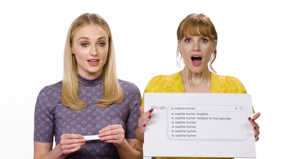 X-Men: #DarkPhoenix stars @SophieT and @jes_chastain answer the questions you searched the most about them on the internet.