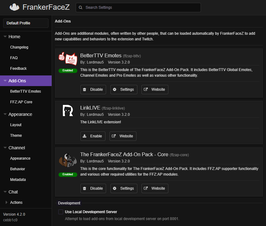 The FrankerFaceZ Add-On Pack (@FFZ_Addon_Pack) | Twitter