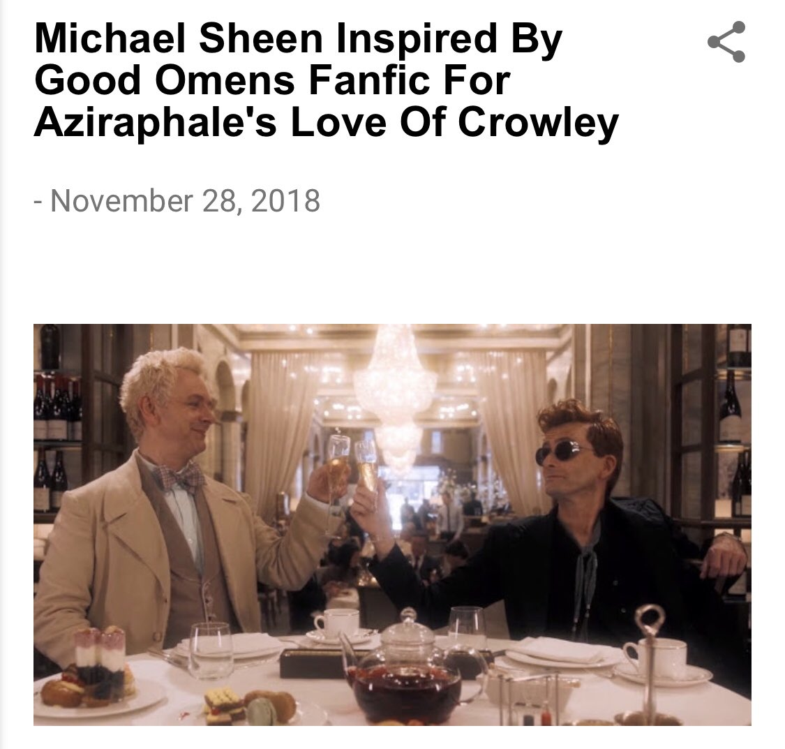 only news that matters about the good omens adaptation imo