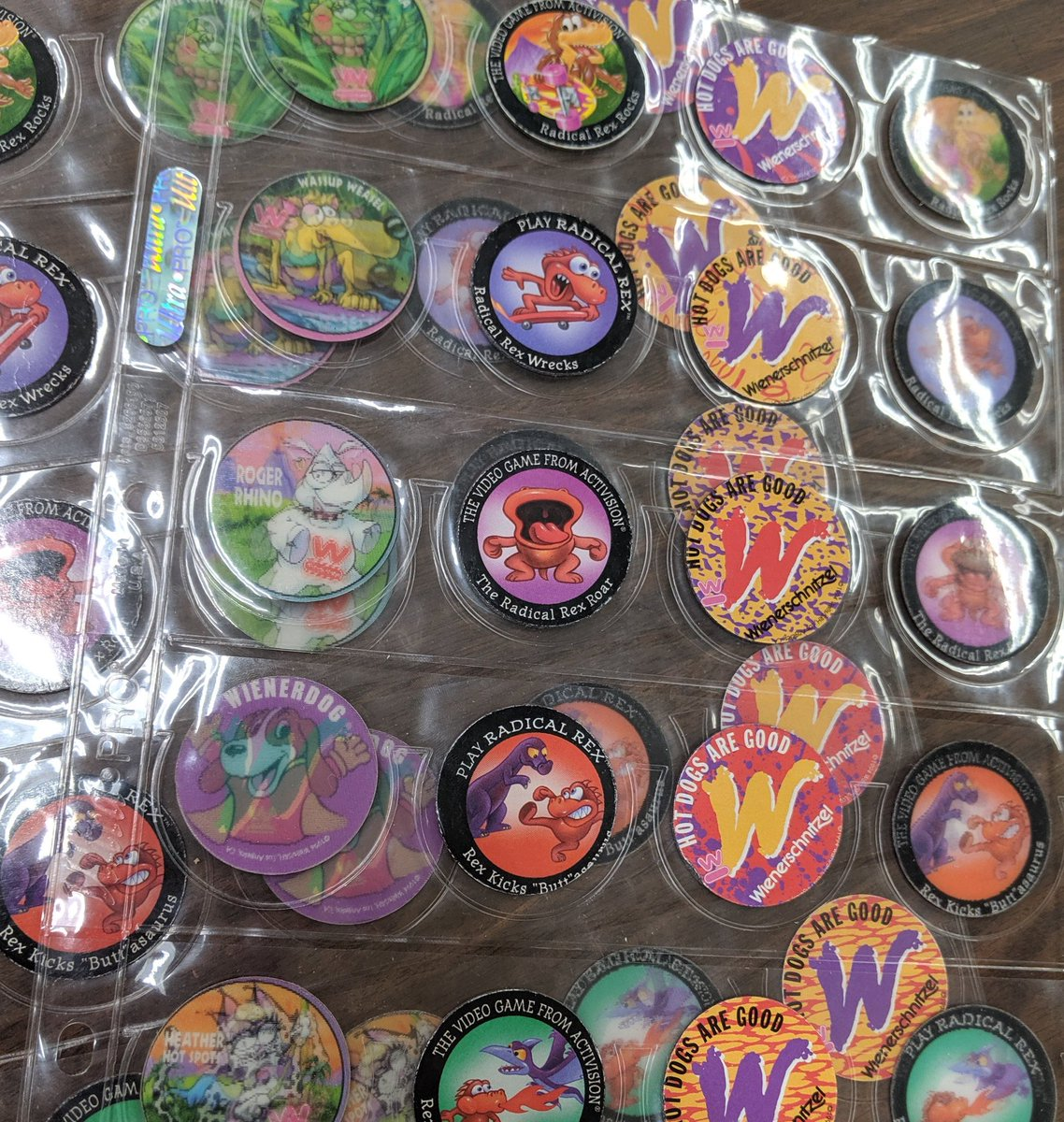 Toys & Hobbies POGS WIENERSCHNITZEL SET of 10 RADICAL REX the VIDEO GAME by ACTIVISION Contemporary Manufacture