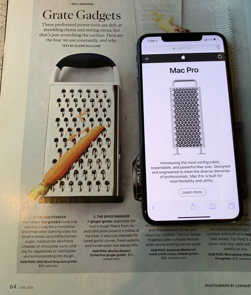 Congrats to @MarthaStewart on the first Mac Pro review scoop