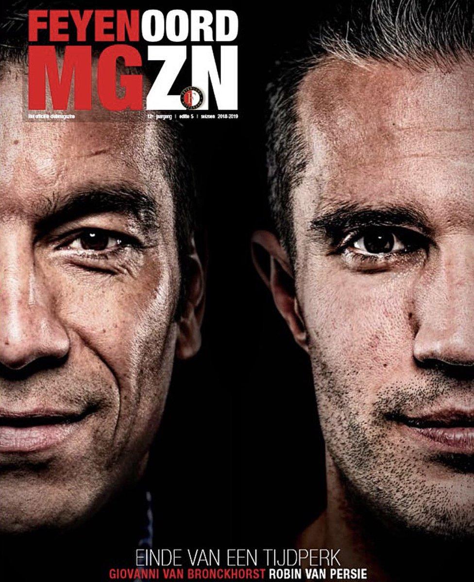 📸 De cover! 👌  De laatste editie van #FeyenoordMagazine van dit seizoen  valt vandaag op de mat bij Het Legioen.  #GioBedankt #RVPLegend https://t.co/ErB0fJGPPZ