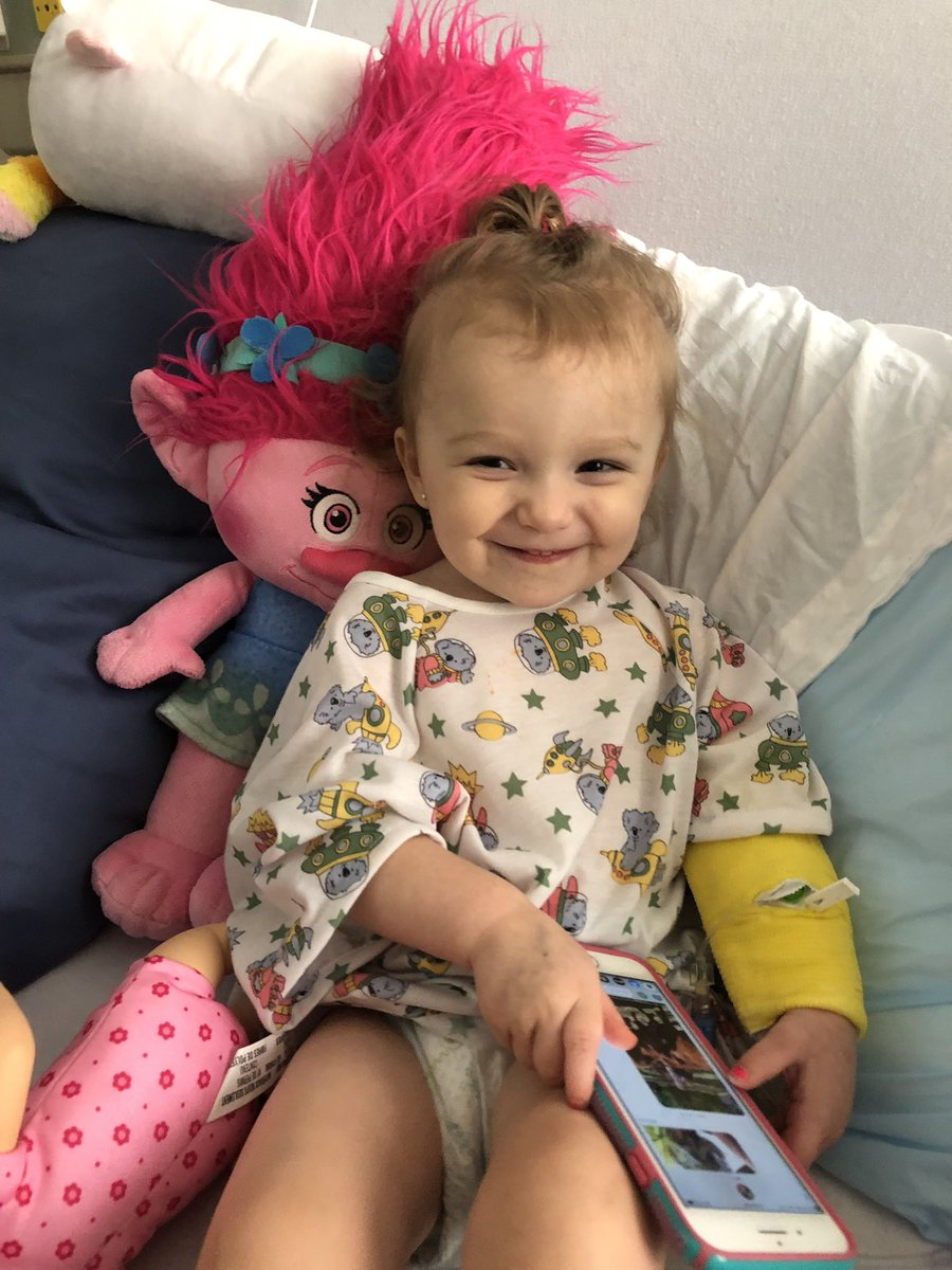 This is my daughter Westlynn Rose. Today, June 3, 2019, she was diagnosed with Acute Myeloid Leukemia cancer. She is 19 months old. Please retweet and say a prayer for my strong girl! God WILL heal her 😭