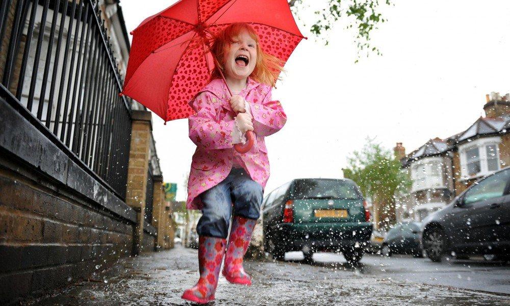 Дети под дождем прикольные картинки, красиво подписать открытку