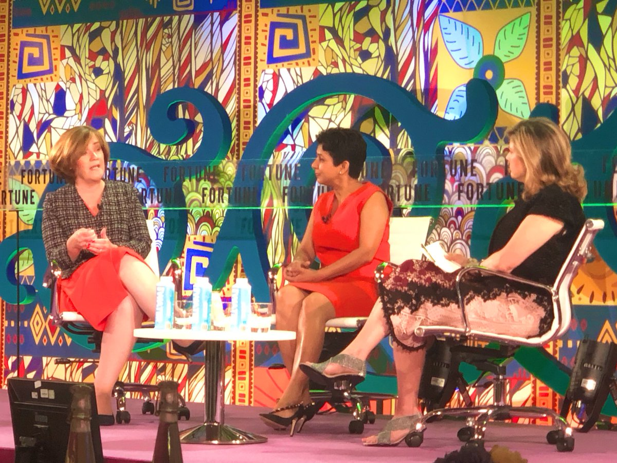 """""""You don't have to be a social enterprise to practice social entrepreneurship,"""" @AdaireFoxMartin speaking about the importance of social impact in business at the Fortune Most Powerful Women International Summit. @SAP @FortuneMPW"""