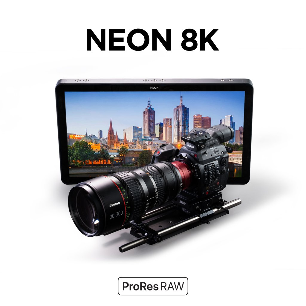 Atomos -Neon monitor- for ProRes RAW 8K capture.