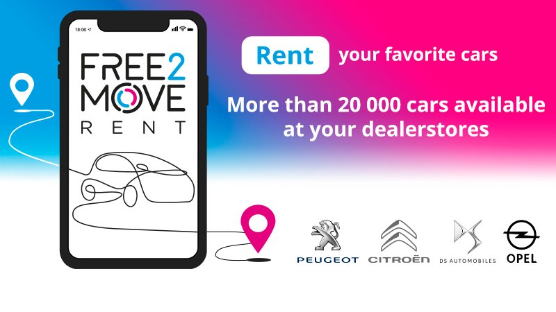 Looking to rent a vehicle for longer? Free2Move Rent lets you do just that, whether you're renting as an individual or a company. Meet this newest addition to our mobility solution package! More info available here 👉https://t.co/J8GNoSJOi0  #Free2Move https://t.co/Zp1059WMxL