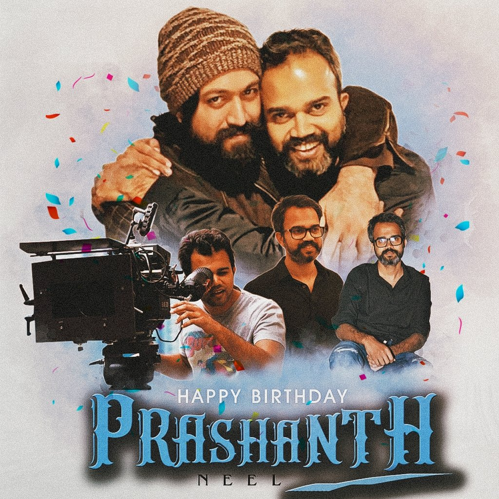 Here Is The Prashanth Neel Sir Birthday Special CDP❤👍  Once Again Happy Birthday @prashanth_neel Sir❤  Spread & 🔄  #HBDPrashanthNeel