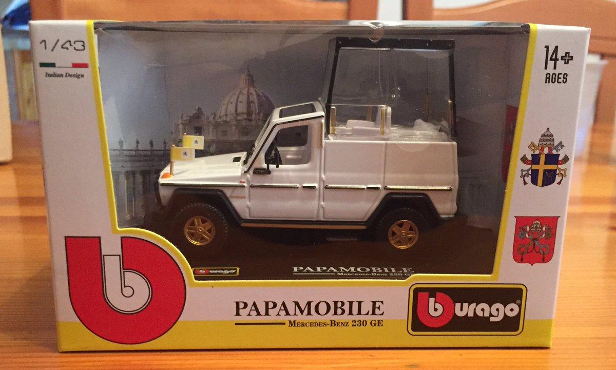 @bburago @Pontifex_it @AmazonIT #collezione #Papamobile #bburago