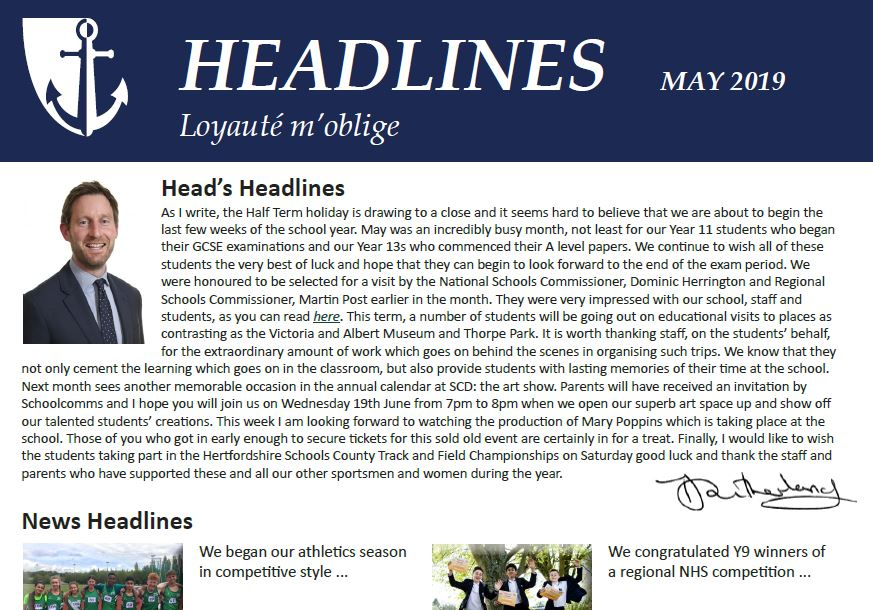 News from another busy month at the school is now available in our latest edition of Headlines: https://t.co/gIR1taWnVn https://t.co/KzVuzeUe95