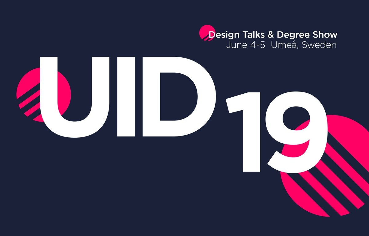 The UID19 Design Talk and Degree Show starts at 13:00 today! Follow the event live #uid19 https://live.umu.se/en/uid2019/