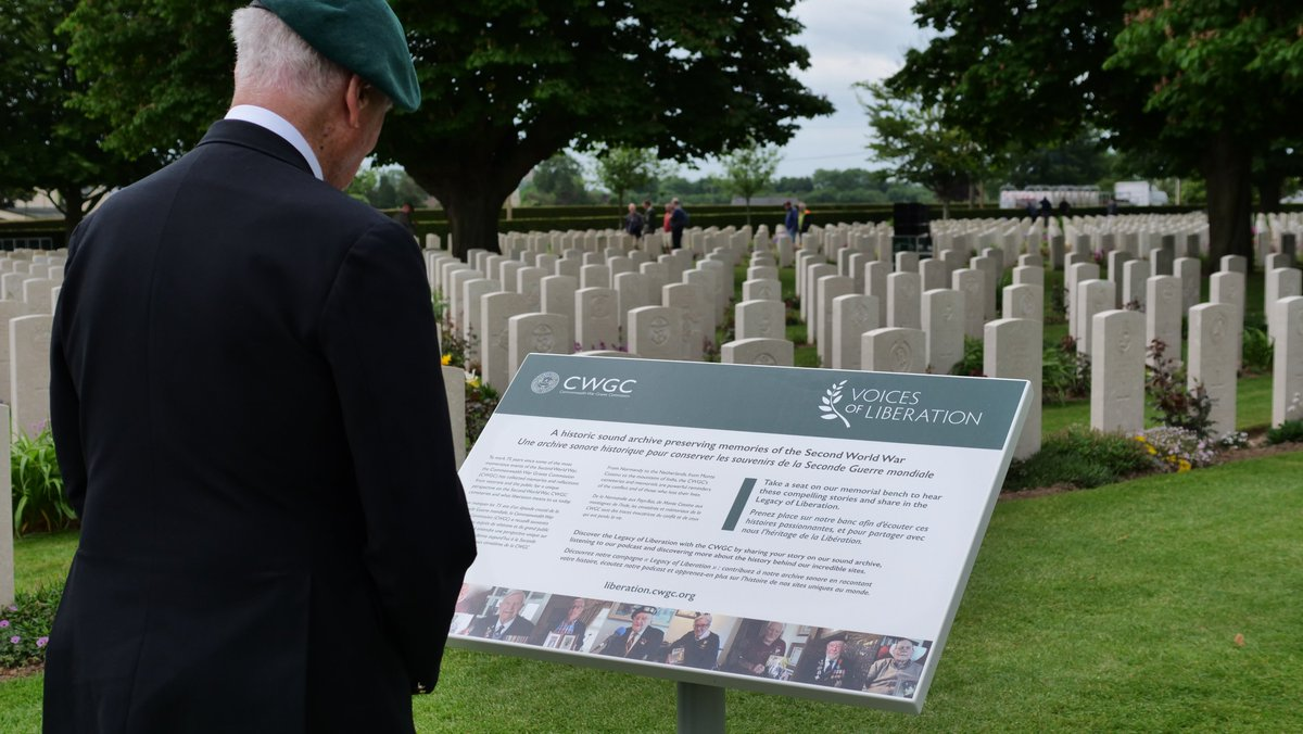"""CommonwealthWarGraves on Twitter: """"The sound installation will be in situ  at the @CWGC's Bayeux War Cemetery throughout the #DDay75 commemorations  and the summer. Make sure to come and pay it a visit"""