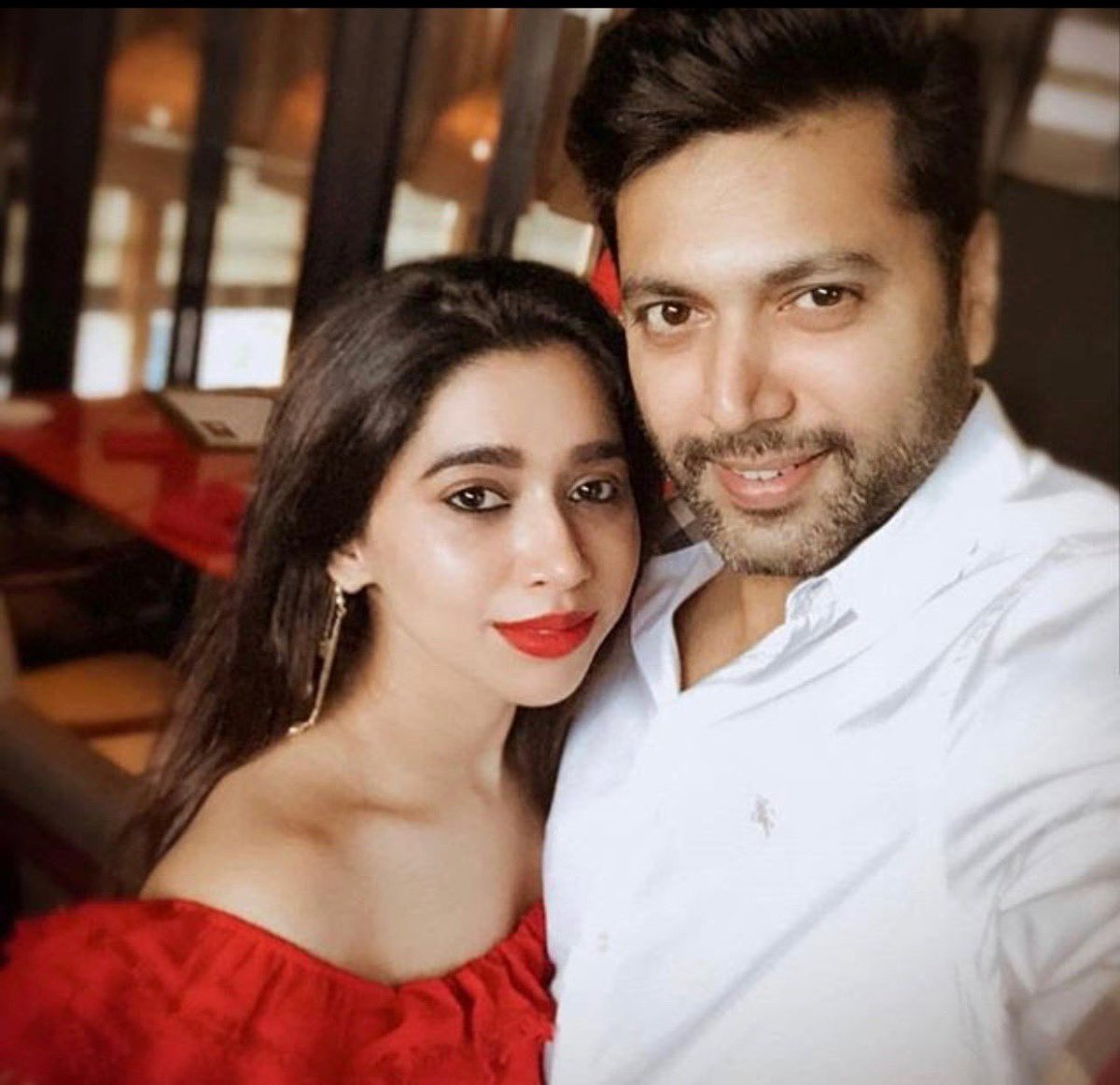 Wishing my fav couple.. my very own family.. my darling ⁦@actor_jayamravi⁩ and his beautiful wife #Aartu a very happy anniversary.. may both be blessed with many many more years of happiness n togetherness..love you both ❤️❤️❤️😘😘😘😘💕💕💕💕💝💝💝💝🎂🎂🎂🎂🎂