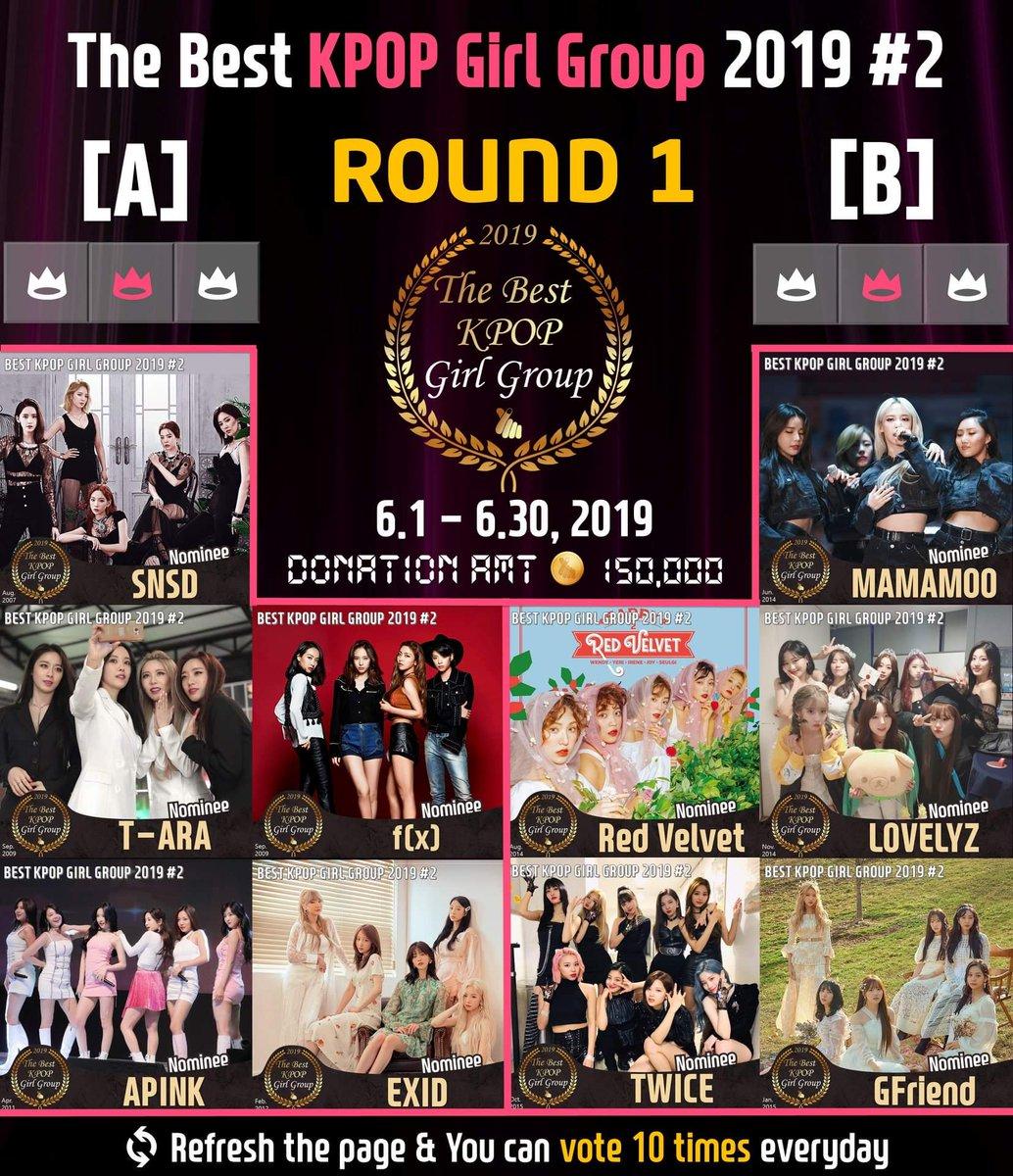 🏆The Best KPOP Girl Group 2019 #2 🎯Round1 : ~ Jun 30, Tweet added