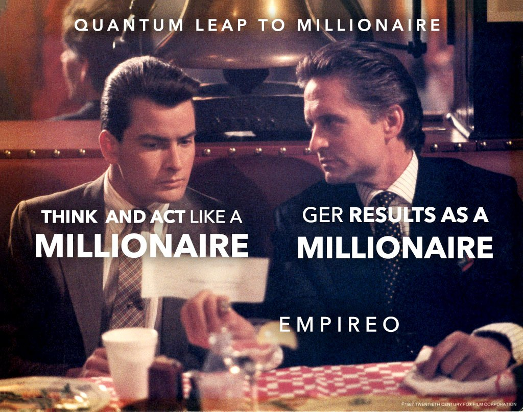 """Think + Act like a #MILLIONAIRE = Get #MILLIONAIRE results.  """"QUANTUM LEAP TO MILLIONAIRE""""💰💎 ▶️ I want to know more about the program https://empireoquantumleap.com/  #MILLIONAIREMINDSET #LUXURYLIFE #10x_MONEYRESULTS #QUANTUMLEAPTOMILLIONAIRE"""