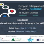 Only 1 month to go!  Join us in Lille 🇫🇷 for the EU Entrepreneurship Education Summit, for a joint session by the #ALLiance4YOUth and @EU_Social  Register here ➡️ https://t.co/65r7ZzlJqr    #SwitchOnEurope