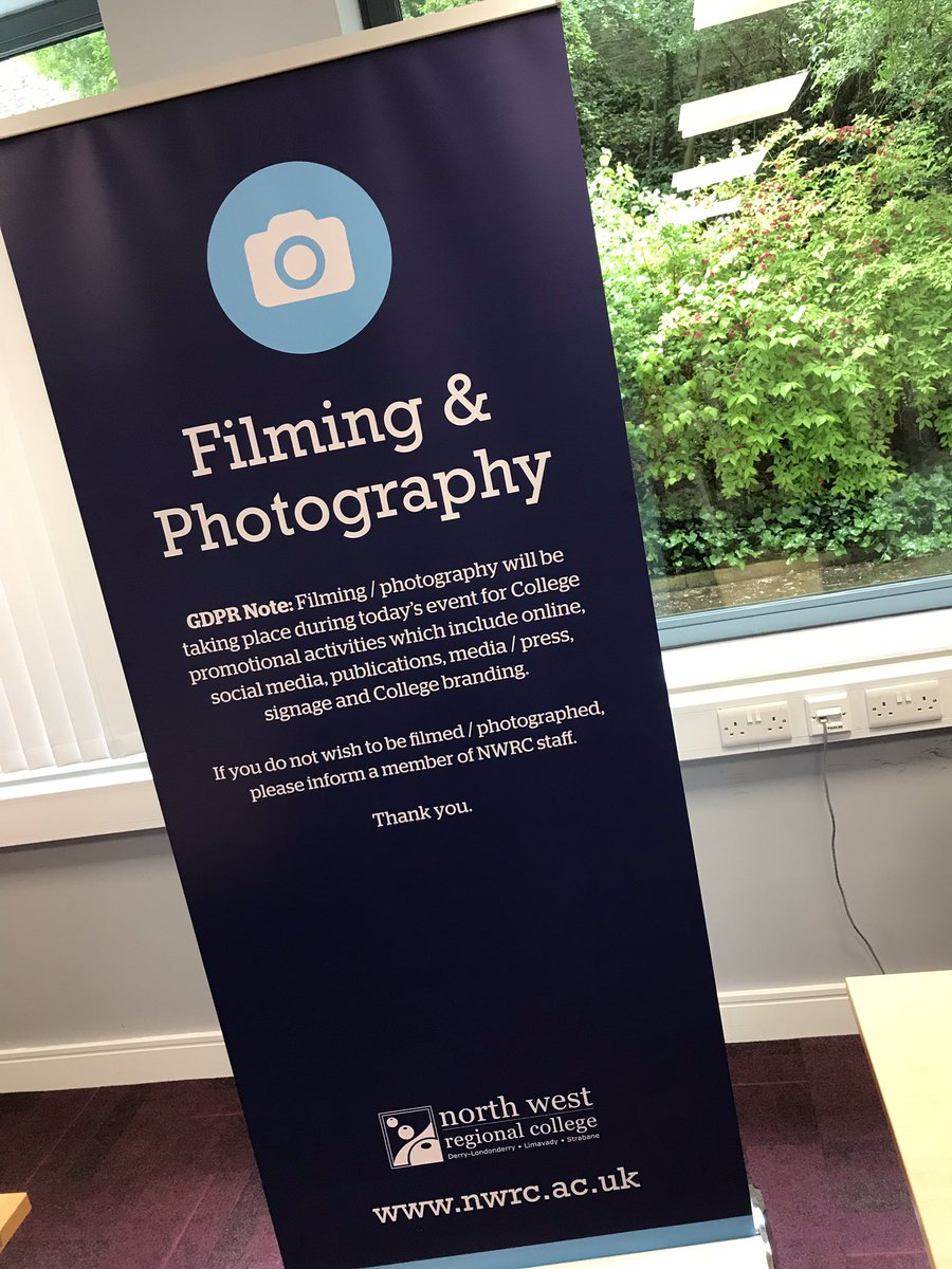 Our new GDPR pop up banners have arrived just in time for our Best in FE Awards this Friday! 🎉✨ #BestPractice #GDPR