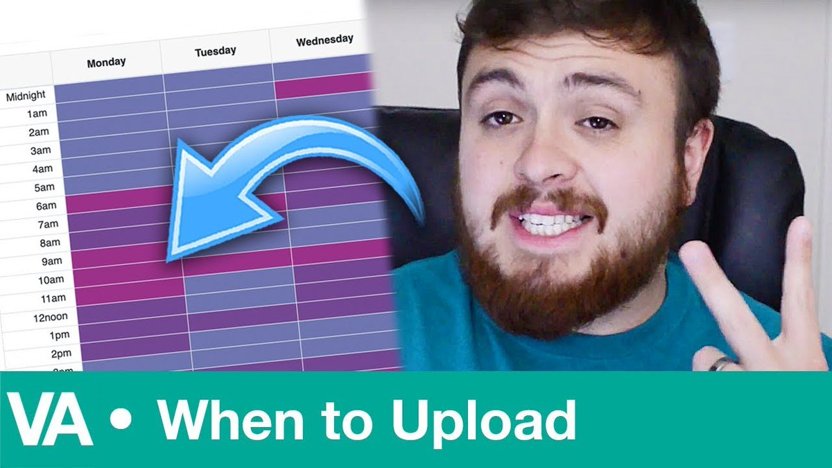 """The """"When to Upload"""" app from @video_amigo takes the ⁉️ out of knowing the best / worst times to post to #YouTube based on your vid Topic. This is a 🤯 game-changer for YouTubers!  Watch the Tool-torial 👉 https://t.co/t8gde5pPRC Bookmark the app 📌 https://t.co/XYVXjpkNs9"""
