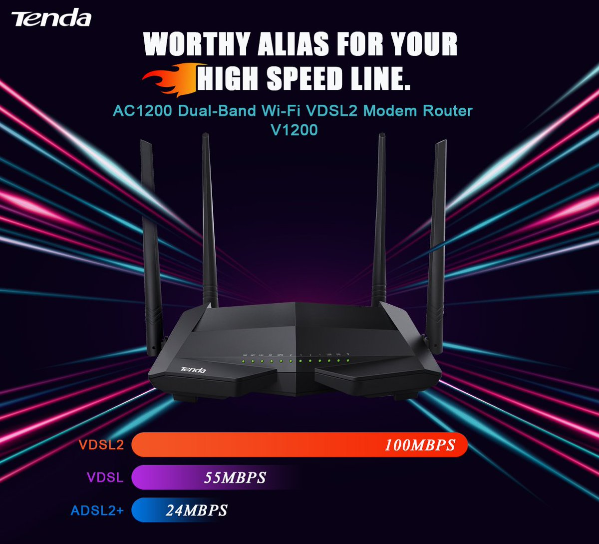 Increased speed, powerful device for your VDSL2 Internet lines  know
