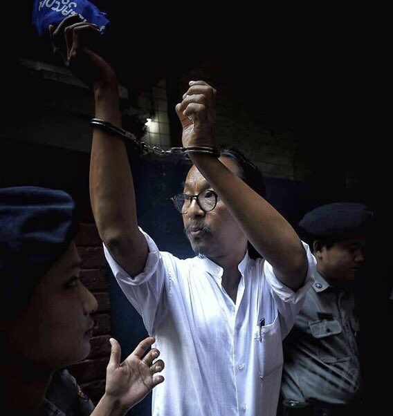 Next hearing for Min Htin Ko Ko Gyi will be this Thursday 6th June Insein Courthouse. Appreciate any friends and media who can attend. His health continues to be frail and your presence absolutely helps his spirits.