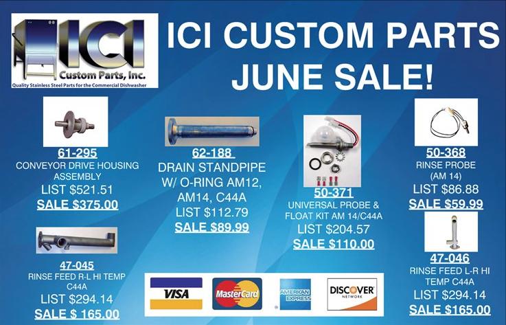 ICI Custom Parts Wash Arm End Cap C44A 44-026