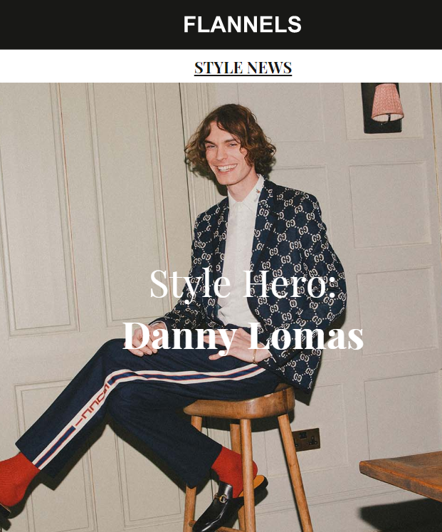 Danny Lomas over on @flannelsfashion having a little Q&A about his style and all things fashion #SelectArtistsAndIcons