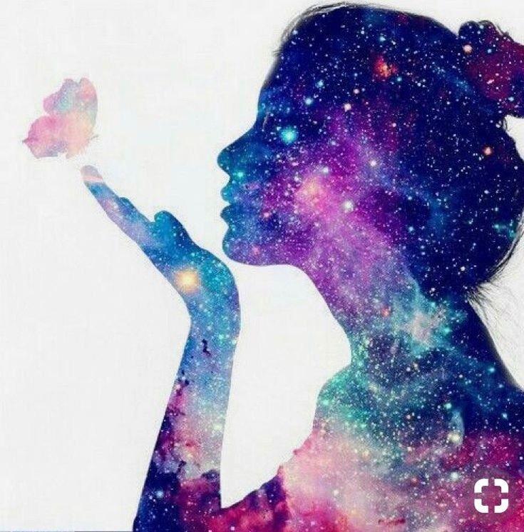 Картинки девочки космос