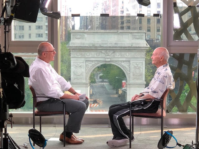 Beautiful setting for an interview. Talking #Apollo11 and my books, #CarryingtheFire and #FlyingtotheMoon, with my friend @HarrySmith of @TODAYshow. Airs tomorrow, June 5th.