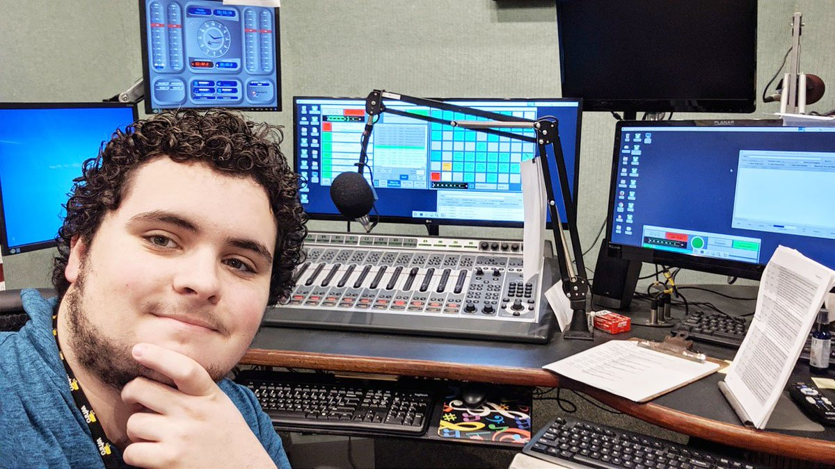 Wow! Check out Clayton interning @WHRO . Hes assisting with 90.3 & 80.5 FM Music Stations. Such a wonderful experience! Go Clayton!!! @grcollegiate