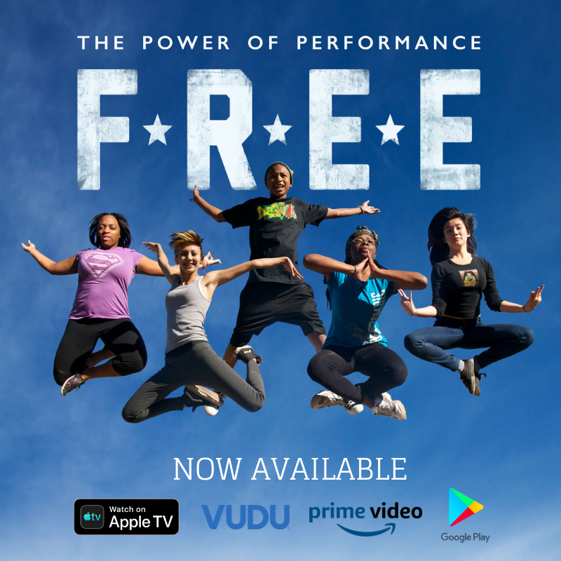 Exciting News! @FreetheDoc is NOW available on @AppleTV, @AmazonPrimeVideo, @VUDUfans & @GooglePlay! Grab the popcorn & watch 5 courageous teens use #dance & #spokenword to #transform thru art with the @DestinyArtsCenter Watch it today! https://freethedocumentary.com/watch