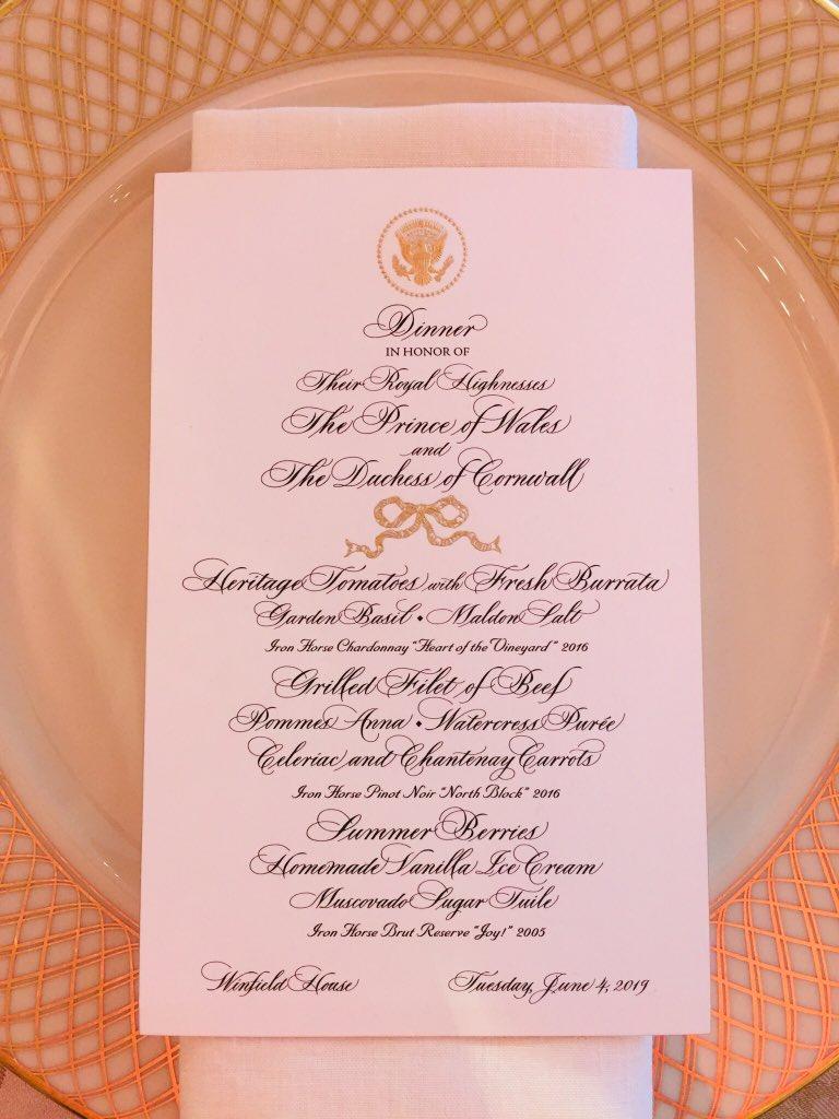 Ответный ужин в резиденции посла США